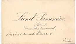 Visitekaartje - Carte Visite - Avocat - Provincieraadslid - Lionel Pussemier - Eeklo - Visiting Cards