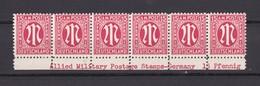 US & Britische Zone - 1945 - Michel Nr. 8 - Postfrisch - Bogenrandstücke Mit Inschrift - Bizone