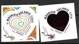 France 2011 Adhésifs N° 510/511 Neufs St Valentin Mauriziio Galante Cote 9 Euros - France