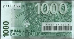 LEBANON - 1.000 Livres 2004 {Banque Du Liban} UNC P.84 A - Libanon