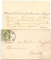 Visitekaartje - Carte Visite - Mme Vve Charles De La Brassinne - Huygen - Stockheim Stokkem + Enveloppe - Cartes De Visite