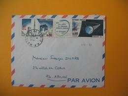 Lettre  De La Réunion CFA  1966  N° 368 Et 369 Soit 369A Pour Ablon (Lancement Du Premier Satellite National à Hammaguir - Reunion Island (1852-1975)