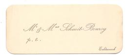 Visitekaartje - Carte Visite - Mr & Mme Schmit - Boursy - Echternach - Visiting Cards