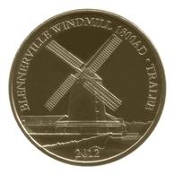 Monnaie De Paris , 2012 , Tralee-Co-Kerry , Blennerville Windmill 1800AD Tralee2012 , Hibernian Collection - Monnaie De Paris