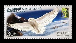 Russia 2018 Mih. 2538 Great Arctic Nature Reserve. Fauna. Birds. Snowy Owl. Mountains (RCC Joint Issue) MNH ** - Unused Stamps