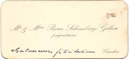 Visitekaartje - Carte Visite - Mr & Mme Pierre Schimberg - Gillen - Vianden - Visiting Cards