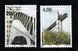 Luxemburg 2012 Mi Nr  1949 + 1951 : Architectuur En Vervoer - Gebruikt