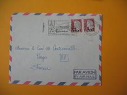 Lettre De La Réunion CFA  1967  N° 350  De Saint-Pierre  Pour La France Les Vosges (EM Saint-Pierre La Réunion....  ) - Reunion Island (1852-1975)