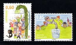 Luxemburg 2012 Mi Nr  1952 + 1953: Kinderen Met Als Thema Drinkwater - Gebruikt