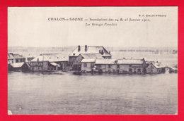 F-71-Chalon Sur Saone-27P59 Les Inondations De Janvier 1910, Les GRANGES FORESTIERS, Cpa BE - Chalon Sur Saone