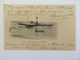 """Le Remorqueur """"LA PICARDIE"""" Au Port Du Crotoy - Collection Coulon-Delong - Carte Précurseur Circulée En 1903 - Remorqueurs"""