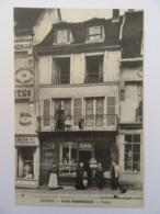 Gisors (Eure) - Café Andrieux - Tabac - Devanture - Carte Animée Annotée Au Verso - Gisors