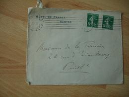 Hotel De France Nantes Enveloppe Commerciale - 1900 – 1949