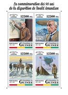 GUINEA 2018 - R. Amundsen, Zeppelin Norge - Mi CV=20 €, 12855-8 - Polar Flights