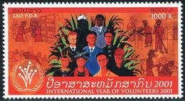 255 - Laos 2001  YT 1439 ; Mi# 1801 **  MNH  International Year Of Volunteering - Laos
