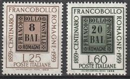 Italia 1959: Centenario Dei Francobolli Delle Romagne - 2 Valori MNH ** - 6. 1946-.. Repubblica