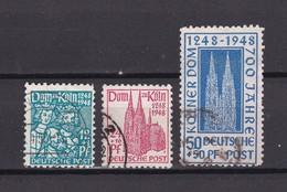 US & Britische Zone - 1948 - Michel Nr. 70/72 - Gest. - 19,5 Euro - Bizone