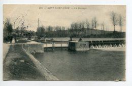02 MONT ST SAINT PERE Batellerie Péniche Devant Ecluse Le Barrage Paysan Et Chevaux De Halage  écrite  1908   D10 2019 - Sonstige Gemeinden