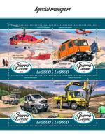SIERRA LEONE 2018 - Polar Transport - YT CV=19 €, 7593-6 - Other Means Of Transport