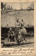 Cpa CONGO BELGE - Famille Bangali, Circulée 1902 MATADI - Congo Belga - Otros