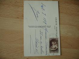 Yt 446  Musee Postal 40 Plus 60 C Timbre Seul Sur Lettre - Marcophilie (Lettres)