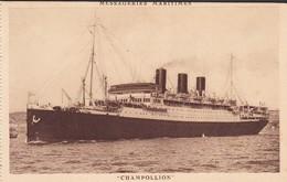 PAQUEBOT----CHAMPOLLION---messageries Maritimes---voir 2 Scans - Steamers
