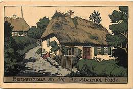 Pays Div- Ref T696- Allemagne - Illustrateurs - Dessin Illustrateur - Flensburg - Bauernhaus An Der Flensburger Forde - Deutschland