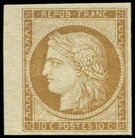 (*) EMISSION DE 1849 - 1    10c. Bistre-jaune, Bdf, Frais Et TB - 1849-1850 Cérès