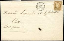 Let EMISSION DE 1849 - 1    10c. Bistre-jaune, Obl. PC 2128 S. LAC, Càd MONTPELLIER 22/1/52, TTB - 1849-1850 Cérès
