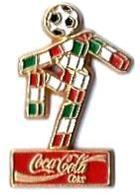 C63 - COUPE DU MONDE FOOTBALL - Sponsor COCA COLA - Verso : C COL ITALIA 90 / BERTONI - Coca-Cola