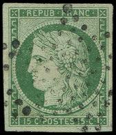 EMISSION DE 1849 - 2    15c. Vert, Oblitéré ETOILE, Superbe. J - 1849-1850 Cérès