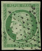EMISSION DE 1849 - 2    15c. Vert, Oblitéré ETOILE, TB - 1849-1850 Cérès