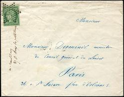 Let EMISSION DE 1849 - 2b   15c. Vert FONCE, Obl. ETOILE S. Env. Locale 13/4/53, TB - 1849-1850 Cérès