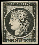 ** EMISSION DE 1849 - 3a   20c. Noir Sur Blanc, TB - 1849-1850 Cérès