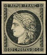 * EMISSION DE 1849 - 3    20c. Noir Sur Jaune, Inf. Ch., Très Frais Et TB. C - 1849-1850 Cérès