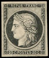 * EMISSION DE 1849 - 3a   20c. Noir Sur Blanc, TB - 1849-1850 Cérès
