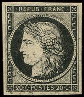 EMISSION DE 1849 - 3    20c. Noir Sur Jaune, Obl. Càd T15 De JANV 49, Frappe Légère, TB - 1849-1850 Cérès