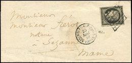 Let EMISSION DE 1849 - 3    20c. Noir Sur Jaune, Obl. GRILLE S. LAC, Càd ASSEMBLEE NATIONALE 25/5/49, TTB. C - 1849-1850 Cérès