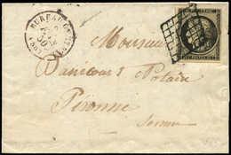 Let EMISSION DE 1849 - 3    20c. Noir Sur Jaune, Obl. GRILLE S. LAC, Càd Rougeâtre BUREAU CENTRAL 27/2/50, TTB - 1849-1850 Cérès