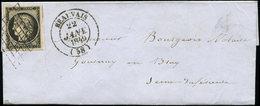 Let EMISSION DE 1849 - 3    20c. Noir Sur Jaune, Obl. GRILLE S. LAC, Càd T14 BEAUVAIS 22 JANV 1849, Superbe - 1849-1850 Cérès