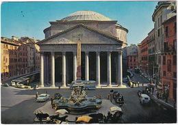 Roma:  BUICK ROADMASTER '58, MESSERSCHMITT KR175, FIAT 600, 1500 TAXI '38, AUTOBUS/COACH - Il Pantheon - PKW