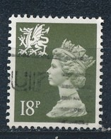 Grossbritannien Wales 18 P. Gest. Königin Elisabeth II. Drache - 1952-.... (Elisabeth II.)