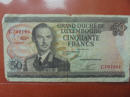 LUXEMBOURG 50 FRANCS 1972 CIRCULER - Luxemburgo