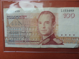 LUXEMBOURG 100 FRANCS 1986 CIRCULER - Luxembourg