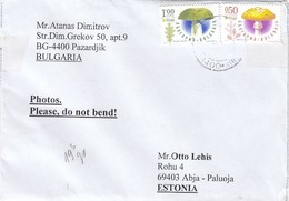 GOOD BULGARIA Postal Cover To ESTONIA 2019 - Good Stamped: Mushrooms - Bulgaria