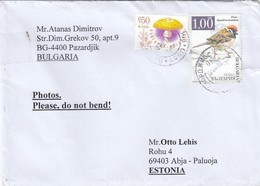 GOOD BULGARIA Postal Cover To ESTONIA 2018 - Good Stamped: Mushroom ; Bird - Bulgaria