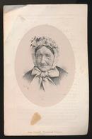 LITHO  VAN LOO == MARIE DE POORTER - EVERGEM DOORNZELE 1794 - 1880  - 2 AFBEELDINGEN - Obituary Notices