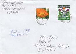 GOOD POLAND Postal Cover To ESTONIA 2019 - Good Stamped: Easter ; Flower - 1944-.... Republic