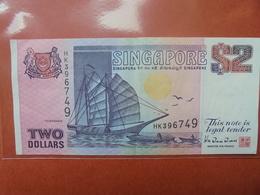 SINGAPOUR 2 $ 1990-92 CIRCULER - Singapour