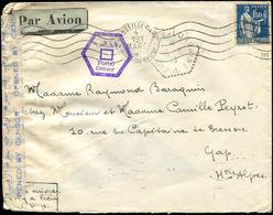 Let Oblitérations Navales - N°288 Obl. Méc. Marseille Gare 4/3/41 S. Env. Par Avion, Càd Hexag. CUIRASSE LORRAINE 25/6/4 - Marcophilie (Lettres)